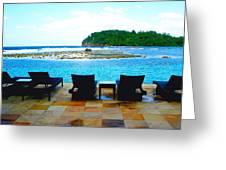 Sea Star Villa Greeting Card by Carey Chen
