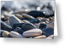 Sea Stones  Greeting Card by Stylianos Kleanthous