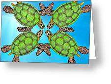 Sea Turtles Greeting Card by Betsy Knapp