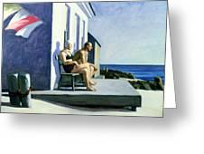 Sea Watchers Greeting Card by Edward Hopper