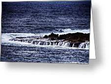 Sea Waterfall Greeting Card by Douglas Barnard