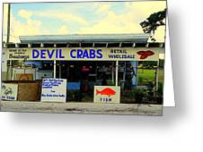 Seabreeze Devil Crabs Greeting Card by Buzz Coe