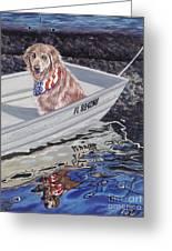 Seadog Greeting Card by Danielle  Perry