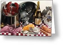 Seafood Serenade 1996  Skewed Perspective Series 1991 - 2000 Greeting Card by Larry Preston