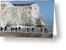 Seaford Head Cliffs Greeting Card by Phil Banks