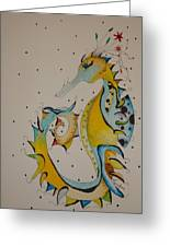 Seahorse Greeting Card by Michelle Thompson