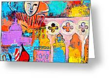 SEARCH OF LOST TIME IN VENICE Greeting Card by ANA MARIA EDULESCU