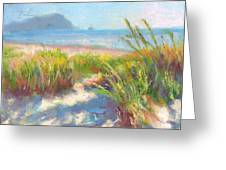 Seaside Afternoon Greeting Card by Talya Johnson