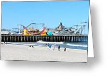 Seaside Casino Pier Greeting Card by Neal Appel