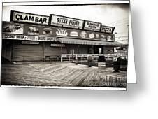 Seaside Clam Bar Greeting Card by John Rizzuto