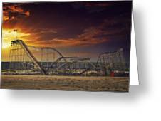 Seaside Coaster Greeting Card by Kim Zier