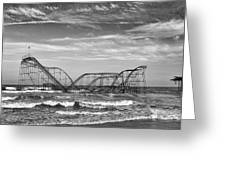 Seaside Heights - Jet Star Roller Coaster Greeting Card by Niday Picture Library