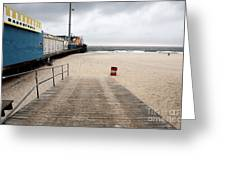Seaside Heights Beach Greeting Card by John Rizzuto