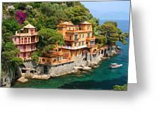 Seaside Villas Greeting Card by Dan Breckwoldt