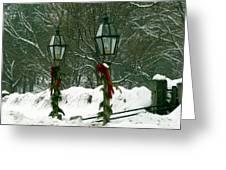 Season's Greetings Greeting Card by Jayne Carney