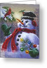 Seasons Greetings Greeting Card by Richard De Wolfe