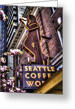 Seattle Coffee Works Greeting Card by Spencer McDonald