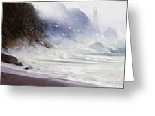 Seawall Greeting Card by Robert Foster