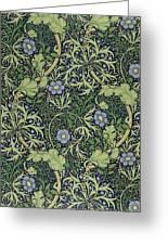 Seaweed Wallpaper Design Greeting Card by William Morris