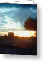 Second Sunset Greeting Card by Pharris Art