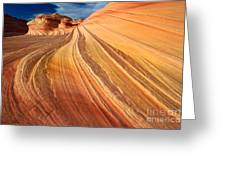 Second Wave Surf Greeting Card by Inge Johnsson