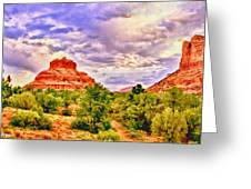 Sedona Arizona Bell Rock Vortex Greeting Card by Bob and Nadine Johnston