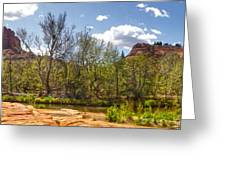 Sedona Arizona Cathedral Rock Panorama Greeting Card by Gregory Dyer