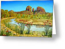 Sedona Arizona Greeting Card by Jerome Stumphauzer