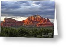 Sedona Arizona Mountains And Big Sky Greeting Card by Gregory Dyer