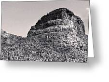 Sedona Arizona Panorama In Black And White Greeting Card by Gregory Dyer