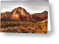 Sedona Panorama Greeting Card by Kayta Kobayashi