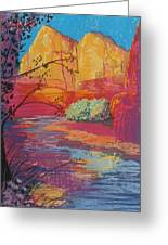 Sedona Sunrise Greeting Card by Jann Elwood