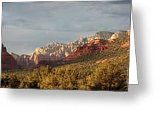 Sedona Sunshine Panorama Greeting Card by Carol Groenen