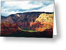 Sedona Valley Greeting Card by Gilbert Artiaga