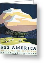 See America - Montana Greeting Card by Nomad Art And  Design