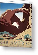 See America Greeting Card by Frank Nicholson