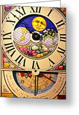 Seed Planting Clock Greeting Card by Garry Gay