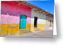 Seeing Pink In Latin America - Granada Greeting Card by Mark Tisdale