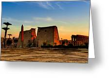 Seeking The Ancient Ruins Of Thebes In Luxor Greeting Card by Mark Tisdale