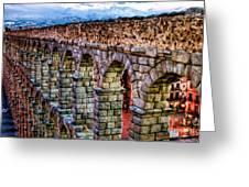 Segovia Aqueduct Spain By Diana Sainz Greeting Card by Diana Sainz