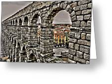 Segovia Aqueduct - Spain Greeting Card by Juergen Weiss