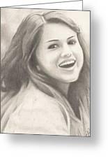 Selena Gomez Greeting Card by Kendra Tharaldsen-Franklin