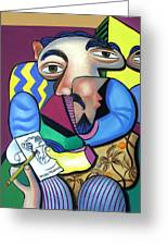 Self Portrait 101 Greeting Card by Anthony Falbo