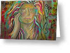 Self Portrait Greeting Card by Gina Ahrens
