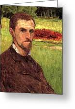 Self Portrait Greeting Card by Gustave Caillebotte