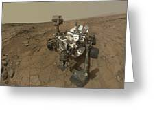Self-portrait Of Curiosity Rover Greeting Card by Stocktrek Images