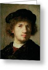 Self Portrait Greeting Card by Rembrandt Harmenszoon van Rijn