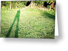 Selfie shadow Greeting Card by Les Cunliffe