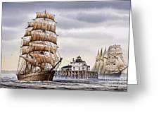 Semi-ah-moo Lighthouse Greeting Card by James Williamson