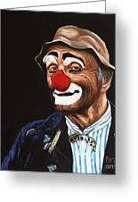 Senor Billy The Hobo Clown Greeting Card by Patty Vicknair